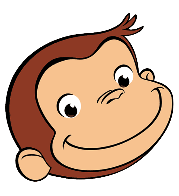 Curious George face image.