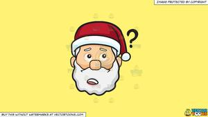 Clipart: A Curious Face Of Santa Claus on a Solid Sunny Yellow Fff275  Background.