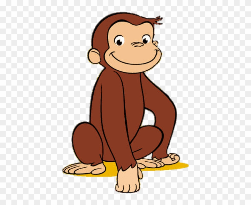 Free Png Download Curious George Resting On One Hand Clipart.