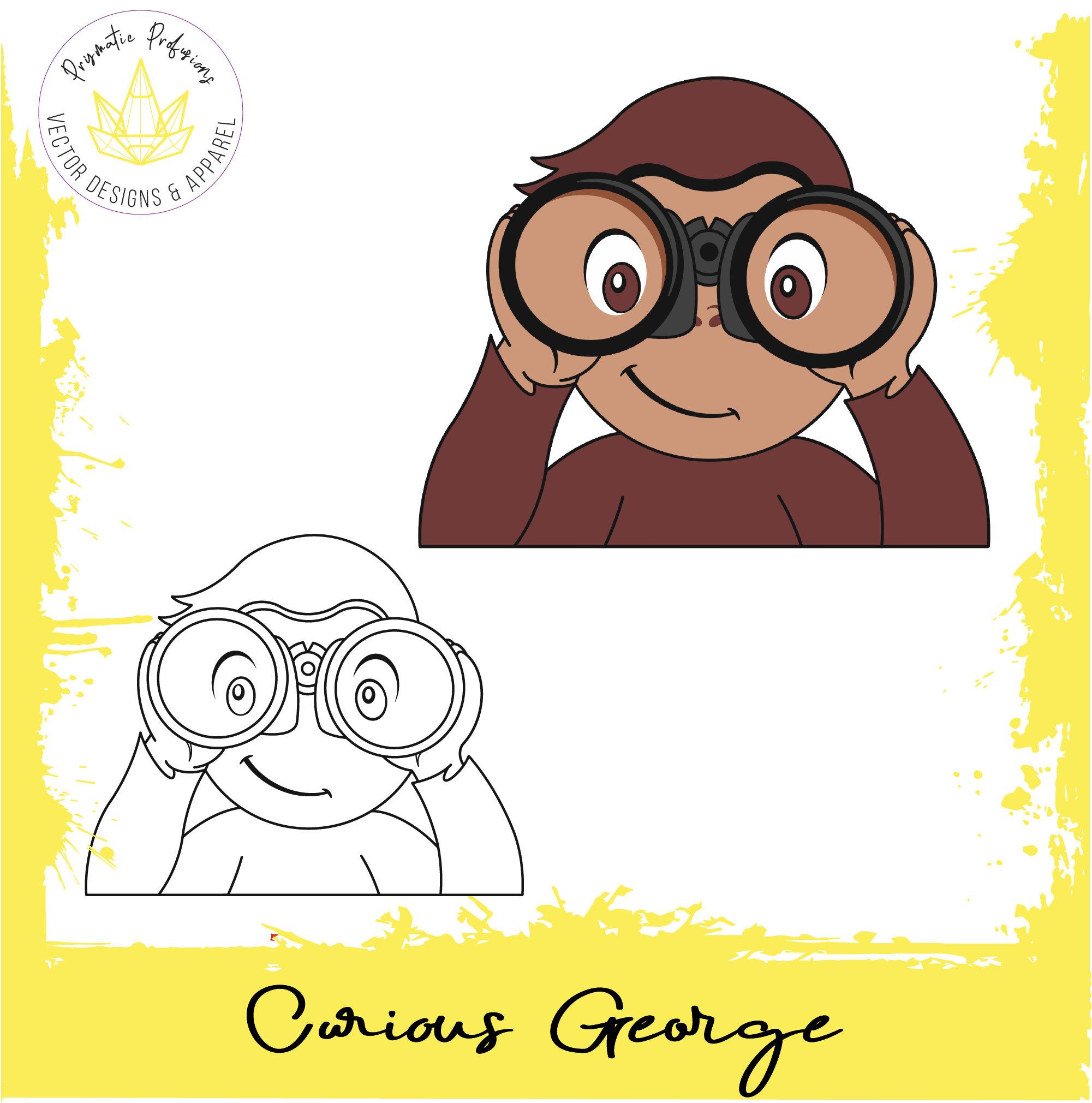 Curious George, Curious George SVG, Curious George Clipart.