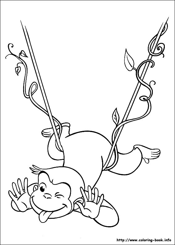 Curious George coloring picture.
