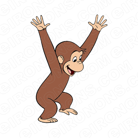 CURIOUS GEORGE PLAYING CHARACTER CLIPART PNG IMAGE SCRAPBOOK INSTANT  DOWNLOAD.