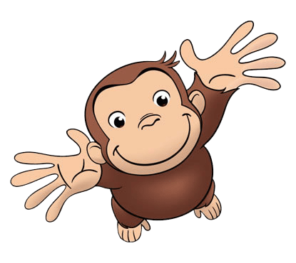 Curious George Looking Up transparent PNG.