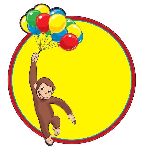 254 Curious George free clipart.