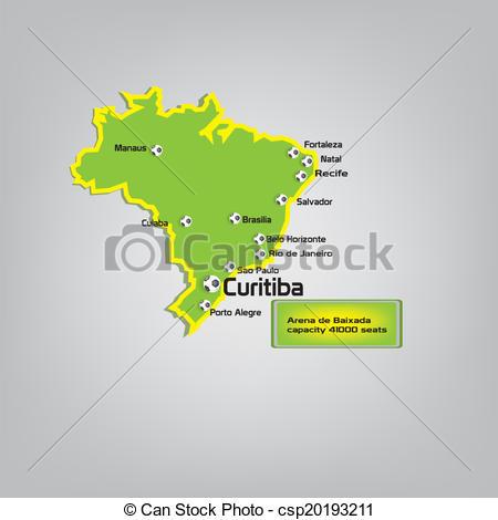 Vector Clip Art of curitiba stadium location on map csp20193211.