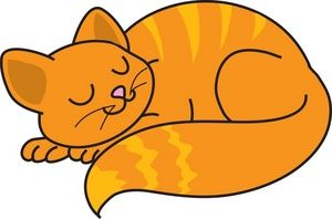 Free Cat Clip Art Image: clip art illustration of an orange.