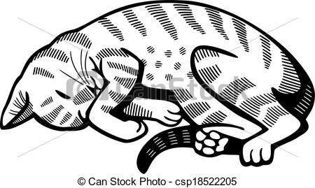 Vector Clipart of Cat Nap.