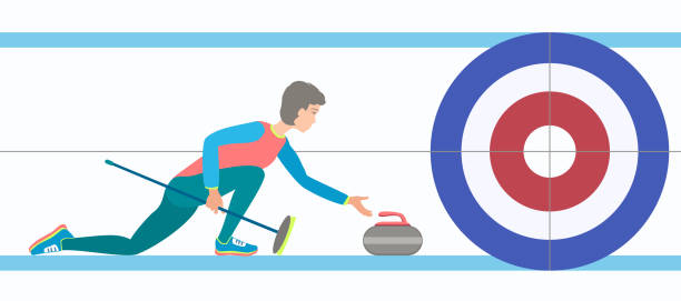 Best Curling Sport Illustrations, Royalty.