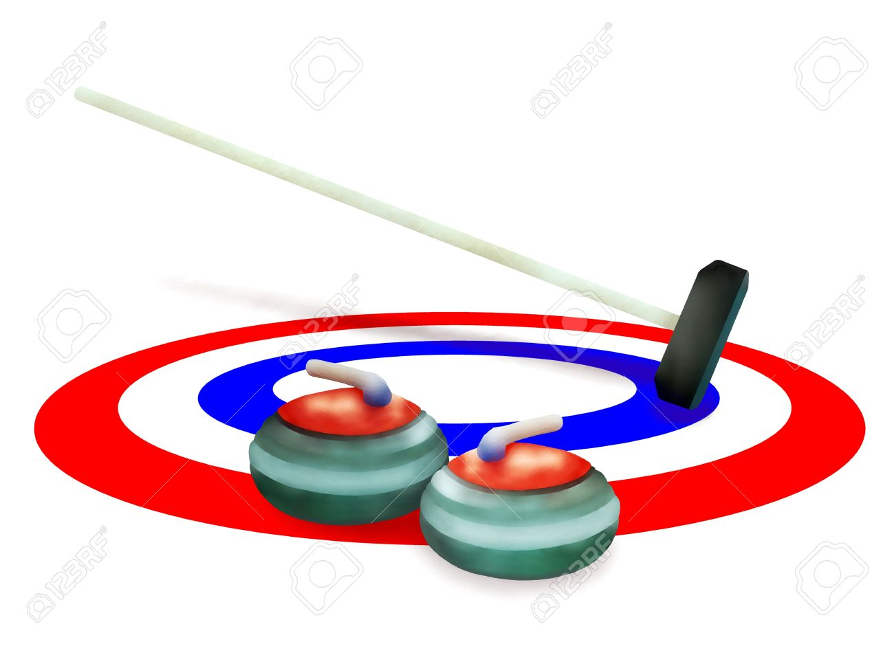 Curling rings clipart.