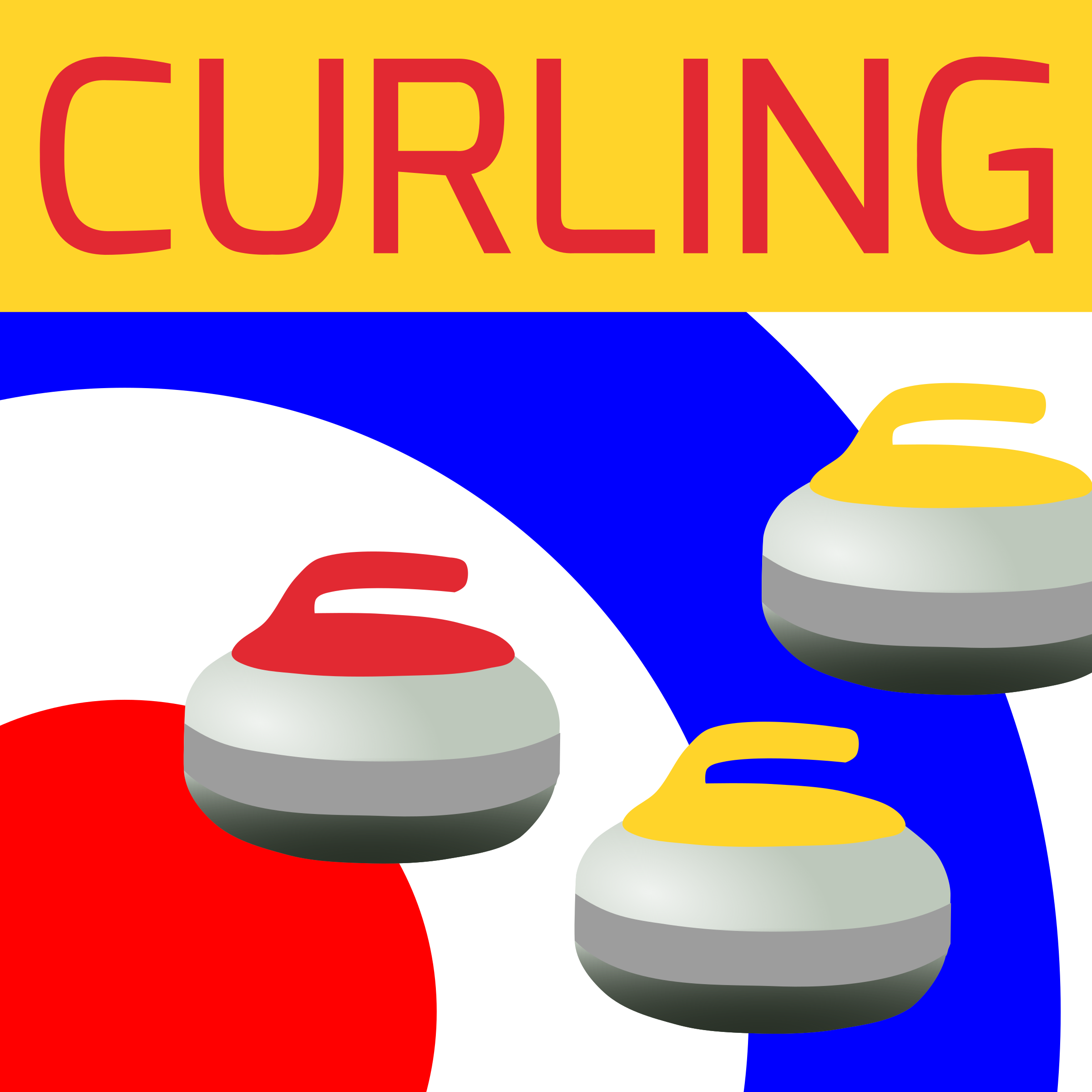 Curling pictures clip art.