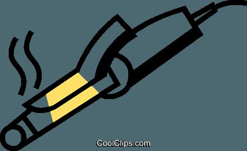 Curling Irons Royalty Free Vector Clip Art illustration.