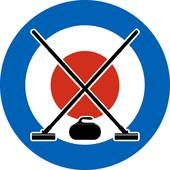 Brooms and stone for curling Clipart.