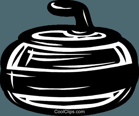 curling rock Royalty Free Vector Clip Art illustration.