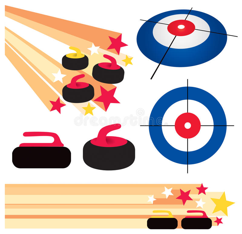 Curling Rock Stock Illustrations.