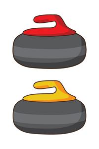 Curling Rock Clipart.
