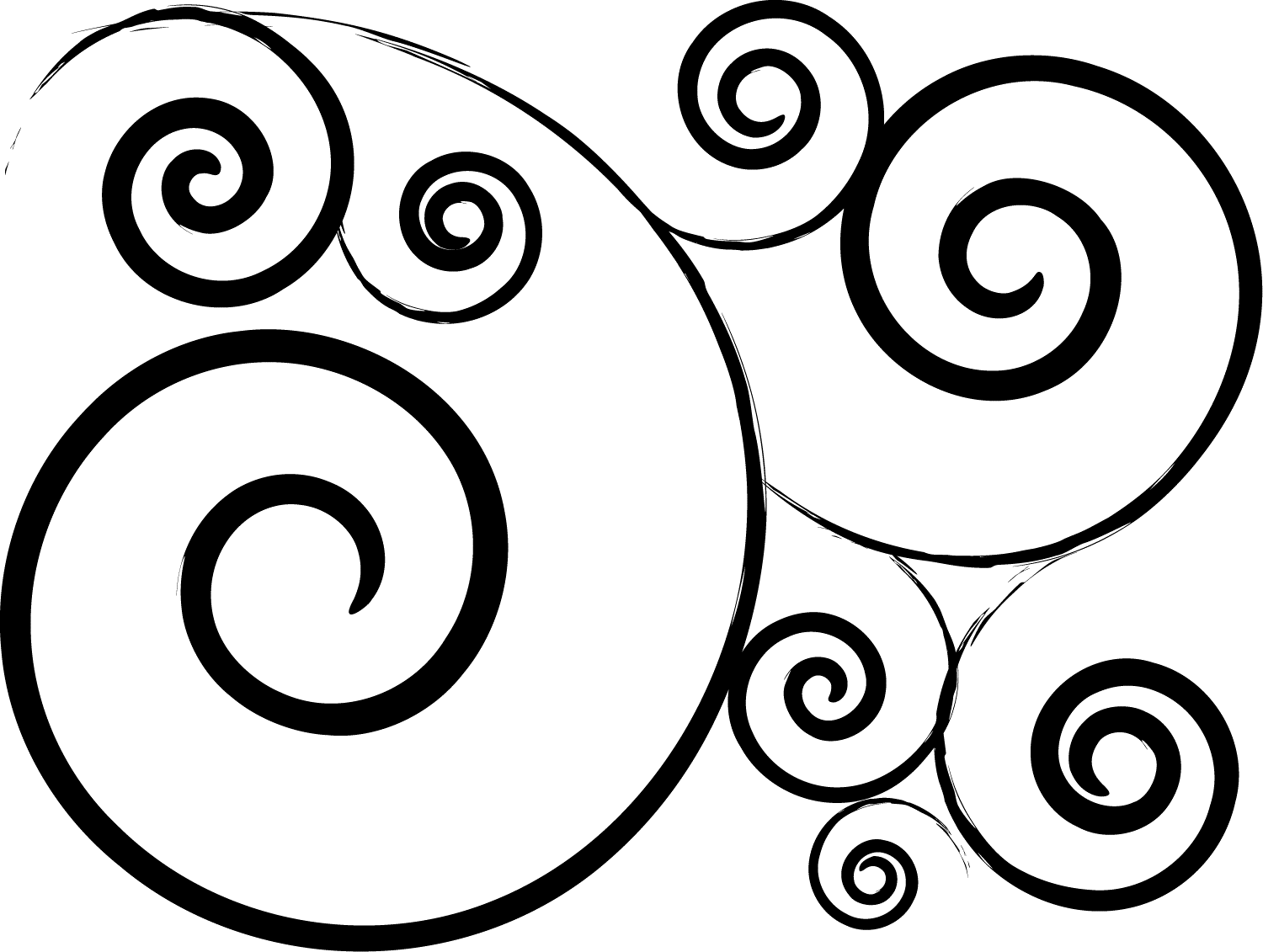 Clipart swirls and curls free.