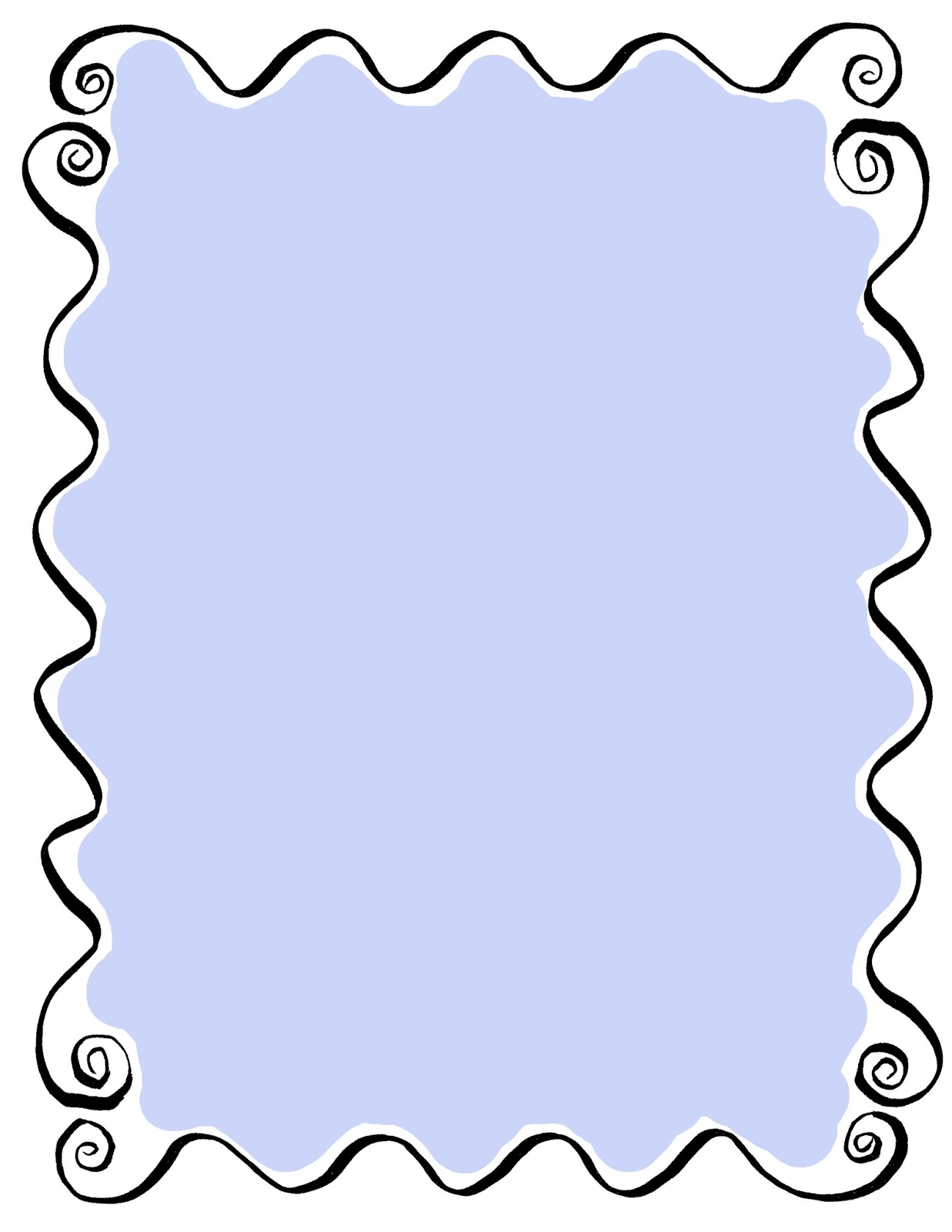 The Graphics Monarch: Printable Hand Drawn Frames Curly Borders.