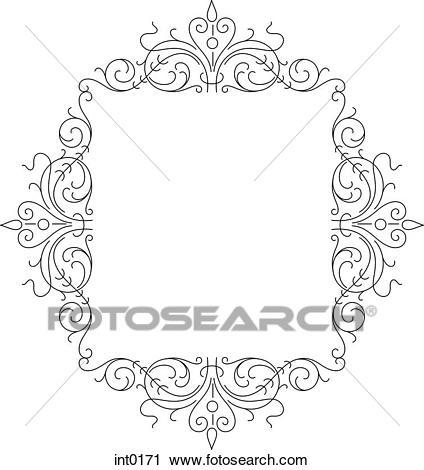 Curly border clipart 6 » Clipart Portal.