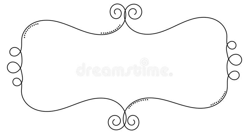 Curly Border Stock Illustrations.