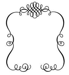 curly frame clip art.