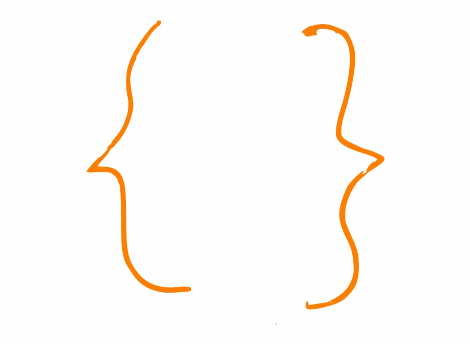 Curly Bracket Vector.