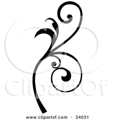 Curly q clip art.
