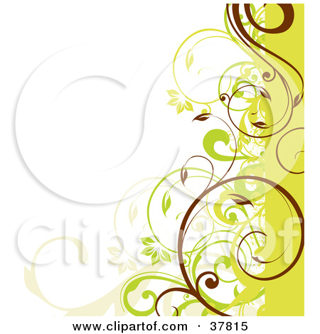 Clipart Floral Background With Copyspace 1.