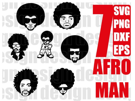 AFRO MAN SVG, black man, funky man, afro boy, black man, curly hair, afro  hair, clipart, stencil, vinyl cut files, iron on files.
