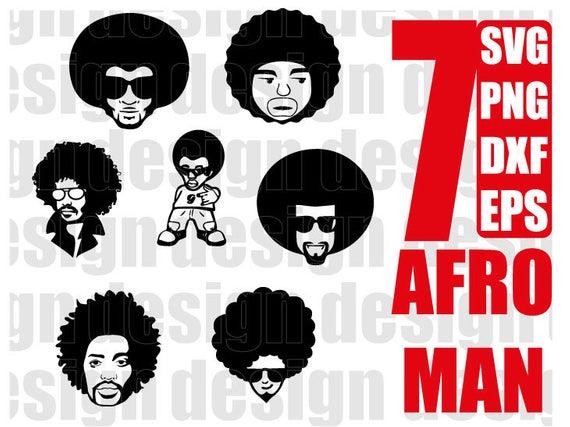 AFRO MAN SVG, black man, funky man, afro boy, black man, curly hair, afro  hair, clipart, stencil, vinyl cut files, iron on files.