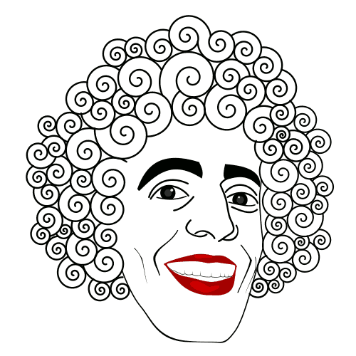 Curly Hair Cliparts.