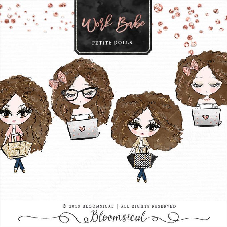 Work Babe Petite Doll Clip art.