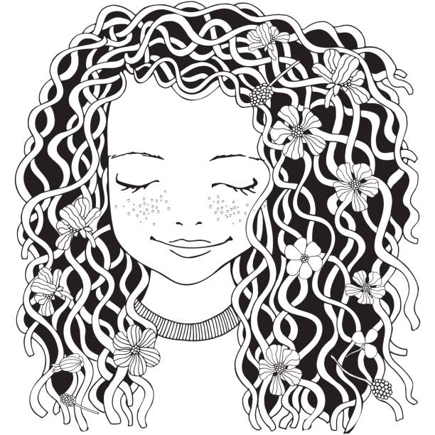 Black Girls With Curly Hair Pictures Illustrations, Royalty.