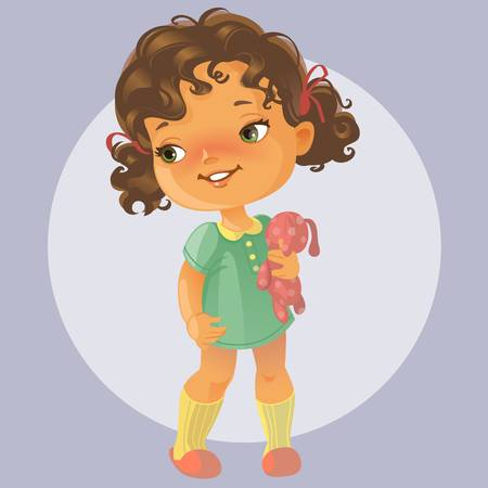 Free Girl Clipart curly hair, Download Free Clip Art on Owips.com.