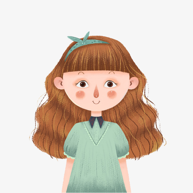 Cartoon Girl, Cartoon Clipart, Girl, Curly Hair PNG Image And.