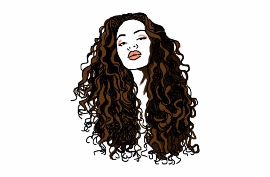 Brown Curly Hair Png.