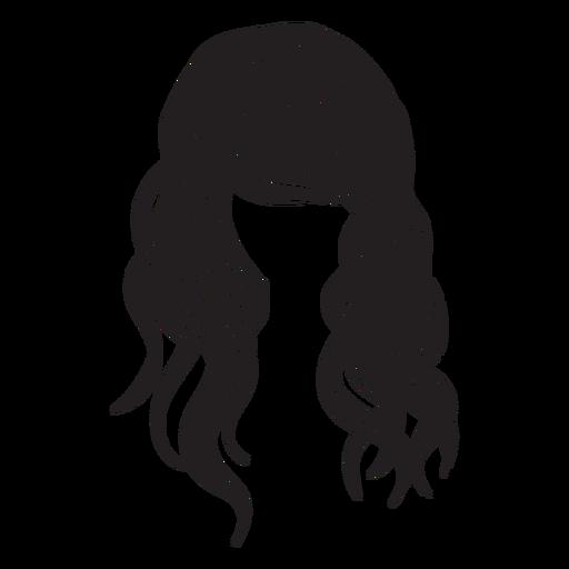 Beach waves hair icon.