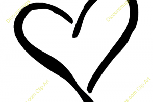 Curly heart outline clipart » Clipart Portal.