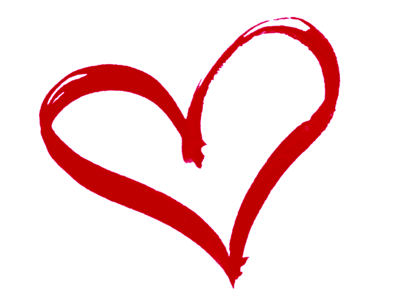 Curly Heart Outline Clipart.