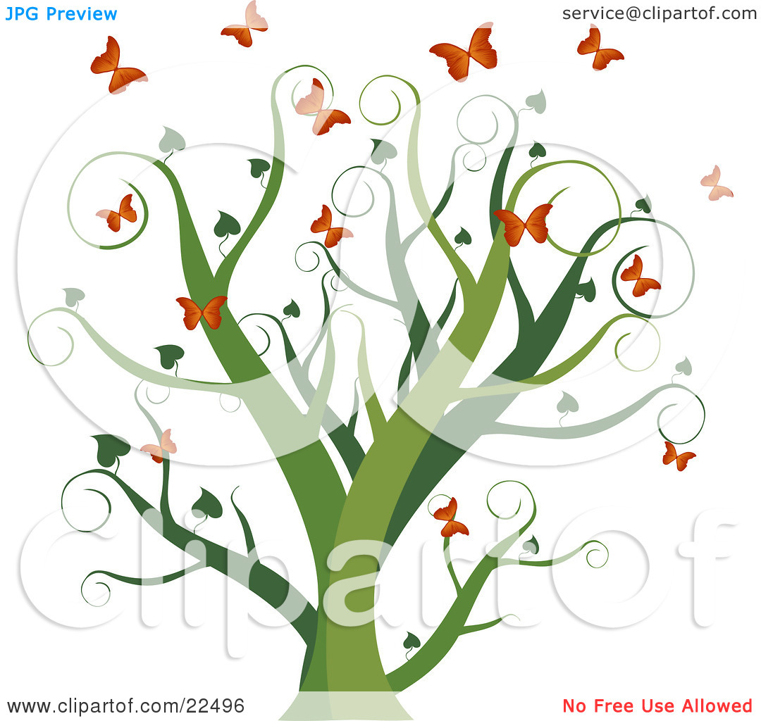 Curly Tree Clipart.