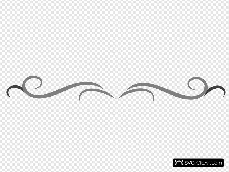 Grey Curly Line Design Clip art, Icon and SVG.