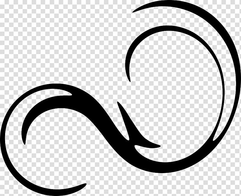 Black swirl line art, Curly , swirl transparent background.