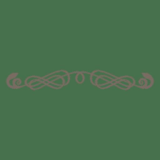 Curly lines ornate divider.