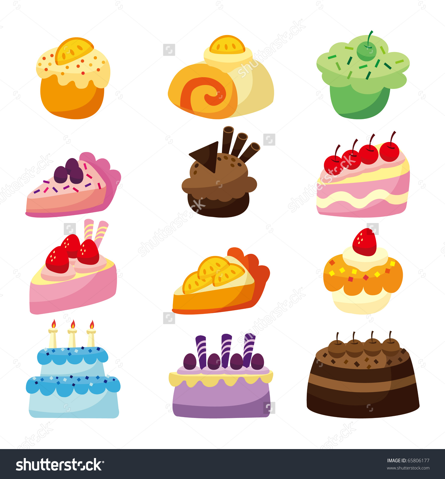 Cartoon Cake Stock Vector 65806177.