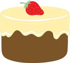 Cartoon coconut cake.