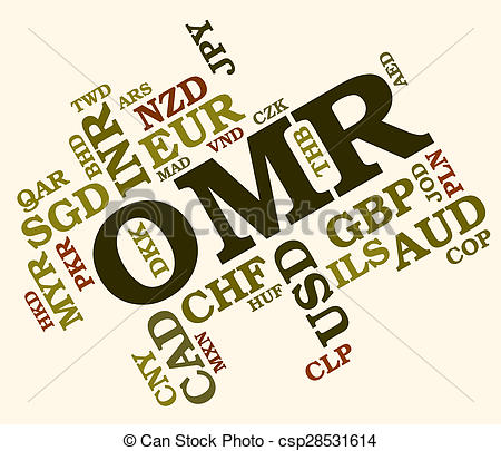 Clipart of Omr Currency Indicates Oman Rials And Currencies.
