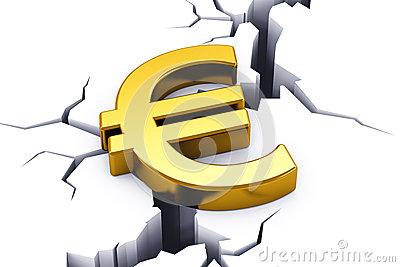 European Financial Crisis Concept. Royalty Free Stock Photography.