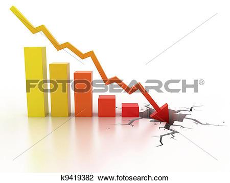 Clip Art of Business financial crisis concept k9419382.