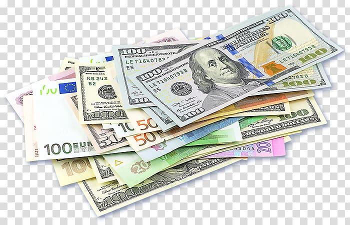 Banknote lot, Foreign Exchange Market Money changer Bureau.