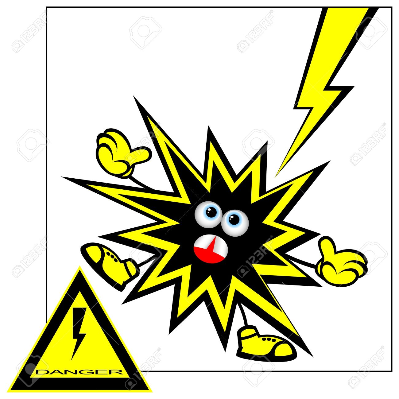 Electric current clipart.