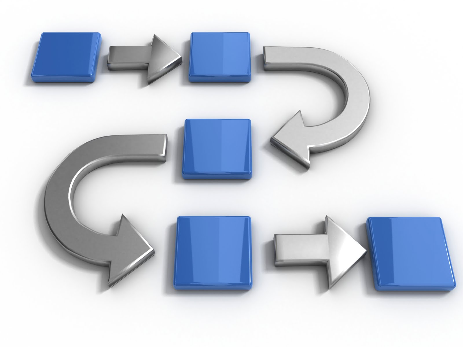 Process flow clipart.